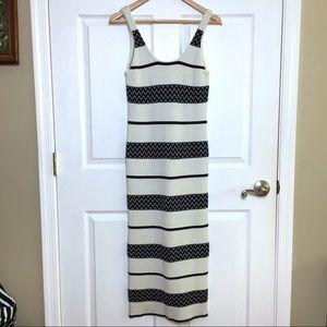 ALICE & OLIVIA Sweater Maxi Dress Striped Small
